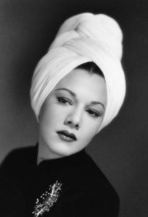 1940s actress Maria Montez in turban
