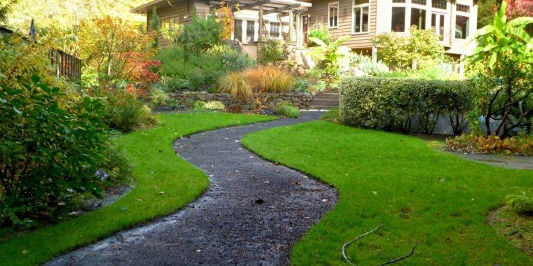 Jardiner a ideas de pavimentos y plantas para los caminos - Pavimentos para jardines ...