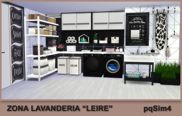 "Laundry Area ""Leire"". Sims 4 Custom Content. ~ PqSim4"