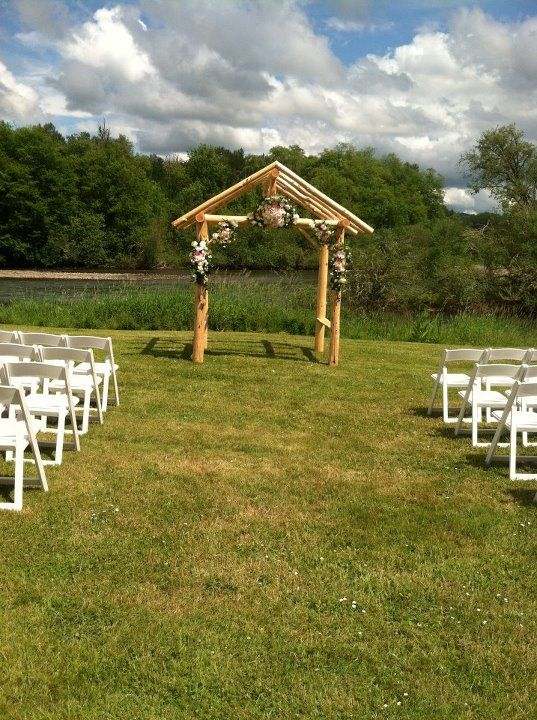 the new wedding arch at northern lights christmas tree farm in - Northern Lights Christmas Tree Farm