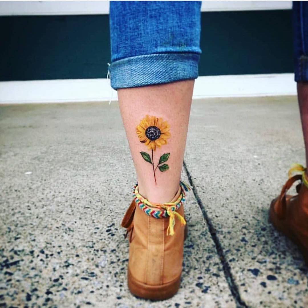"HIPPIE M.A.Y on Instagram: ""Tag a friend who would love this sunflower tattoo 🌻 Photo by @e.gtattoo . .  #hippie #hippies #hippiequotes #hippiefashion #hippiespirits…"""