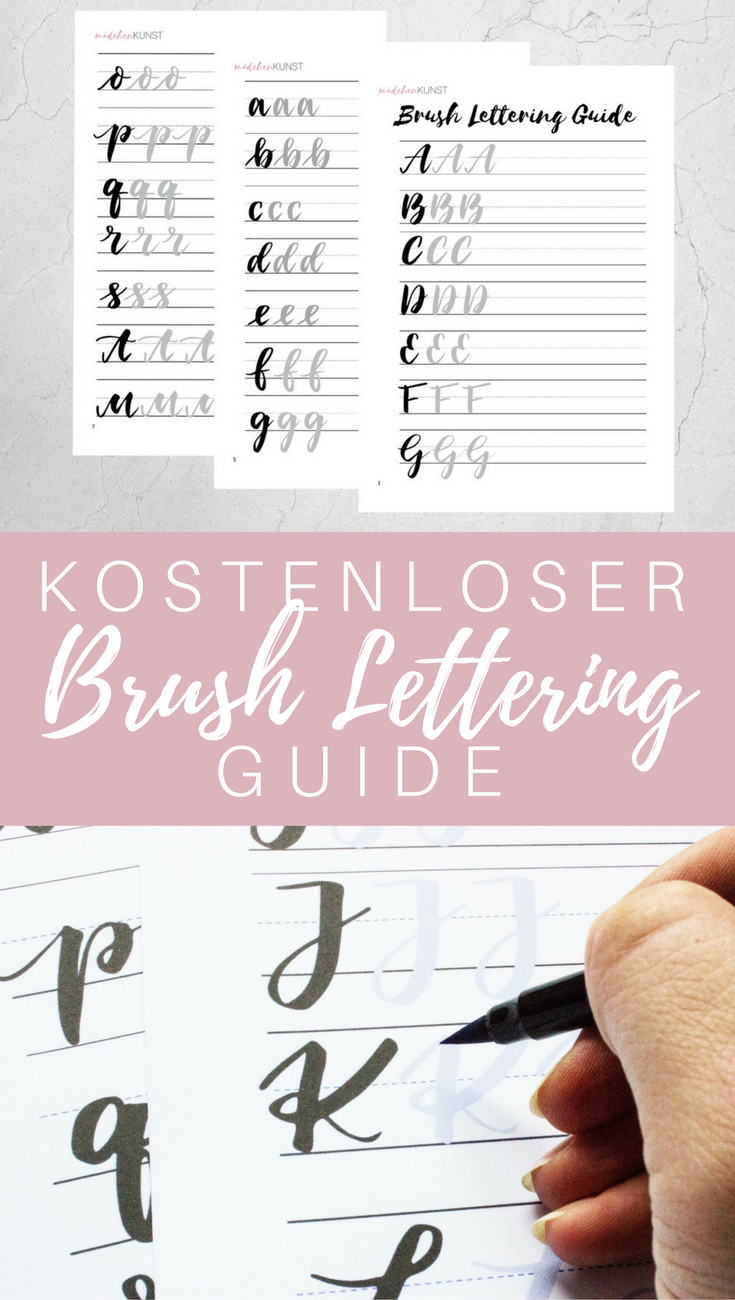 kostenloser brush lettering guide art pinterest schrift kalligraphie und handschrift. Black Bedroom Furniture Sets. Home Design Ideas