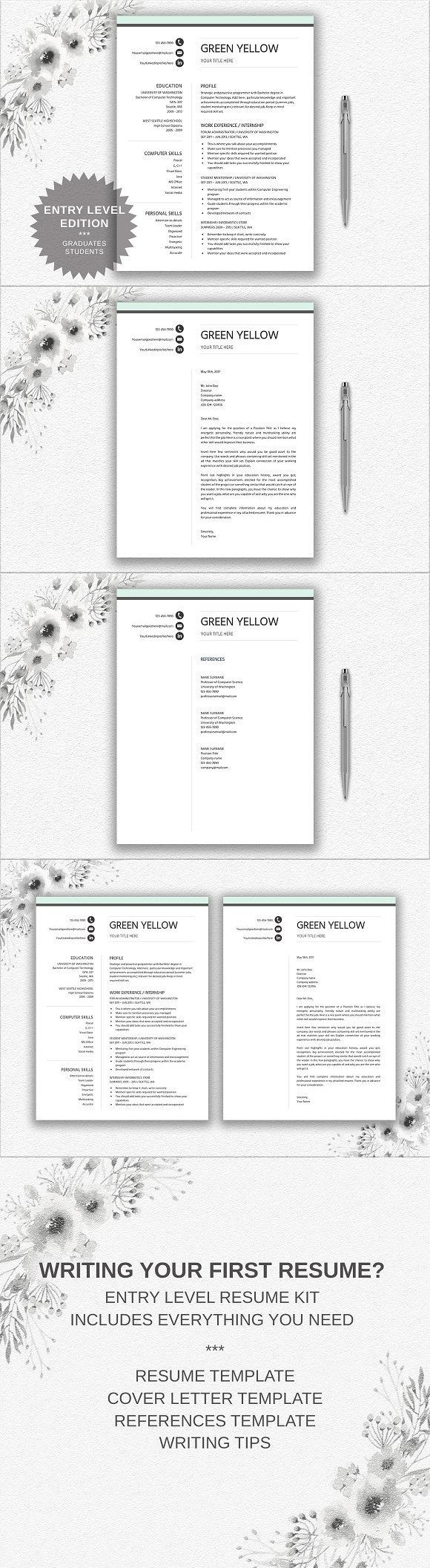 Resume Template Entry Level Resume Templates  Resume Templates