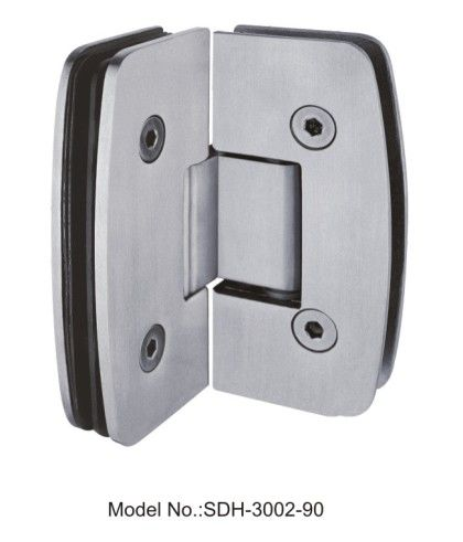 90 degree glass door hinges in stainless