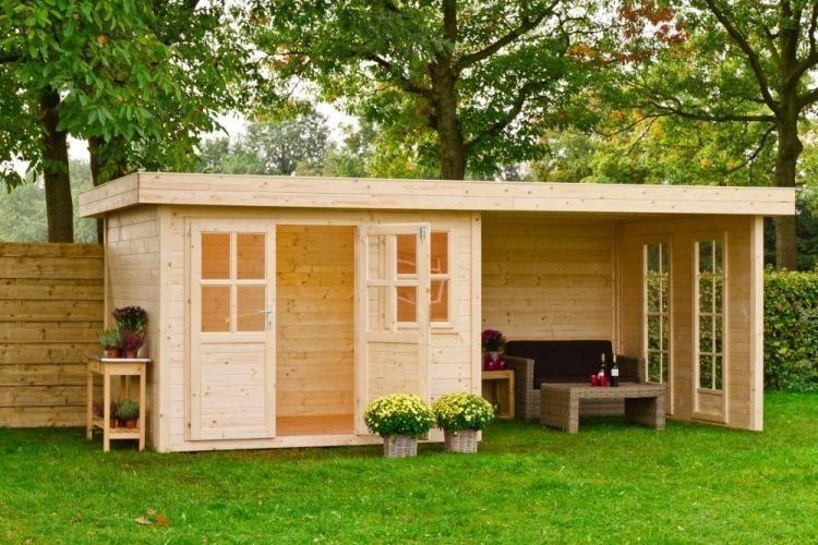 Outdoor Life Blockbohlenhaus / Gartenhaus /   GLOBUS Baumarkt