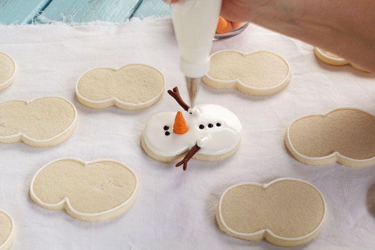 Easy Snowman Cookies Cookies Christmas Sugar Cookies Cookies
