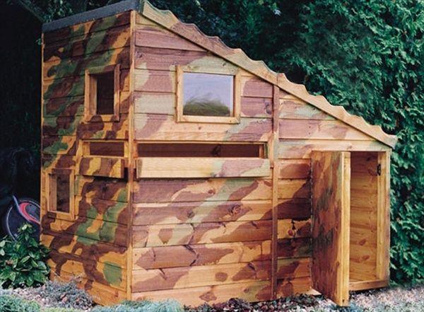 DIY Designs - Kids Pallet Playhouse Plans Wooden Pallet Furniture - casitas de jardin para nios