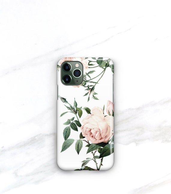iPhone 11 Case Pink Roses Personalized iPhone 11 Pro Case