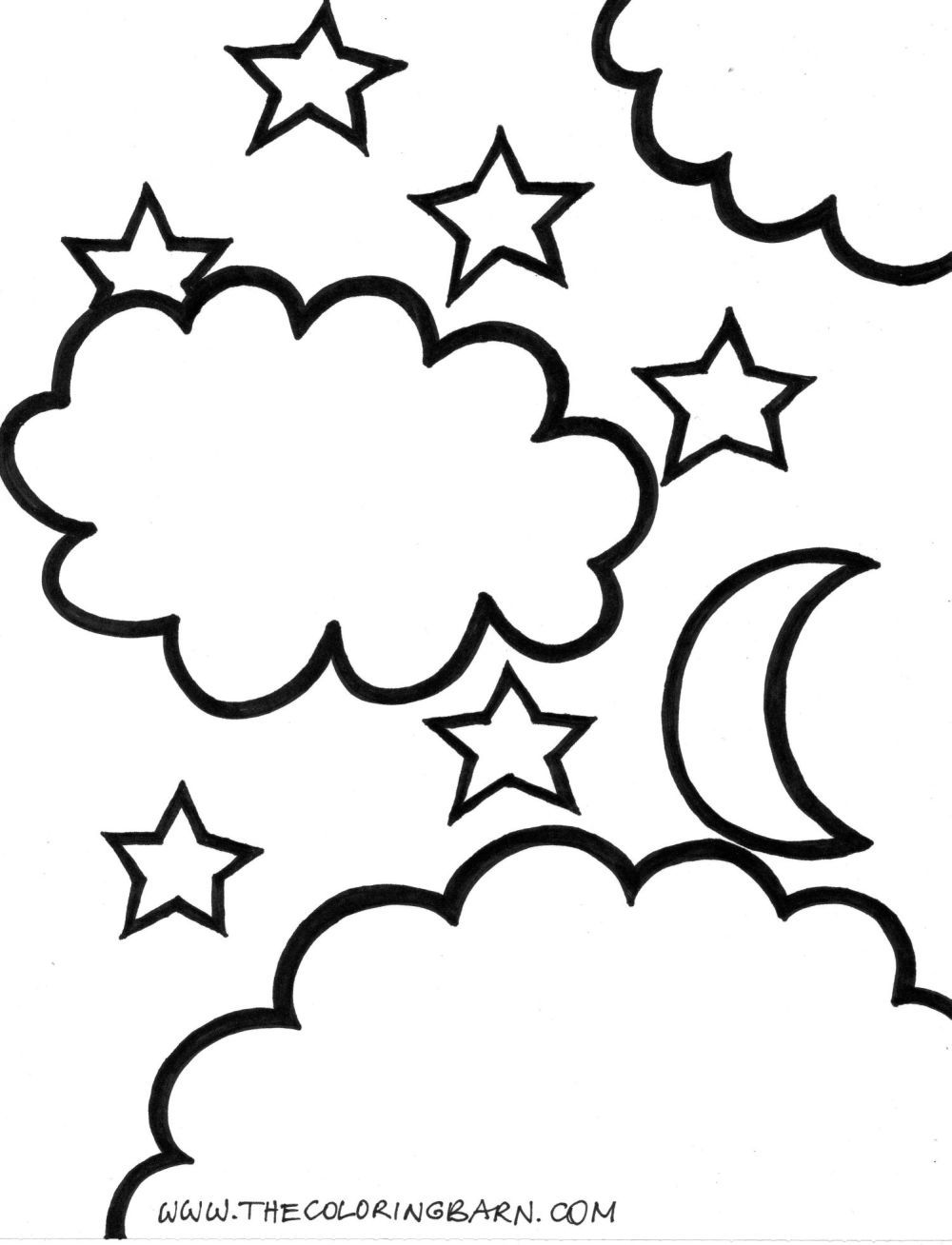 Moon And Star Coloring Page Star Coloring Pages Moon Coloring