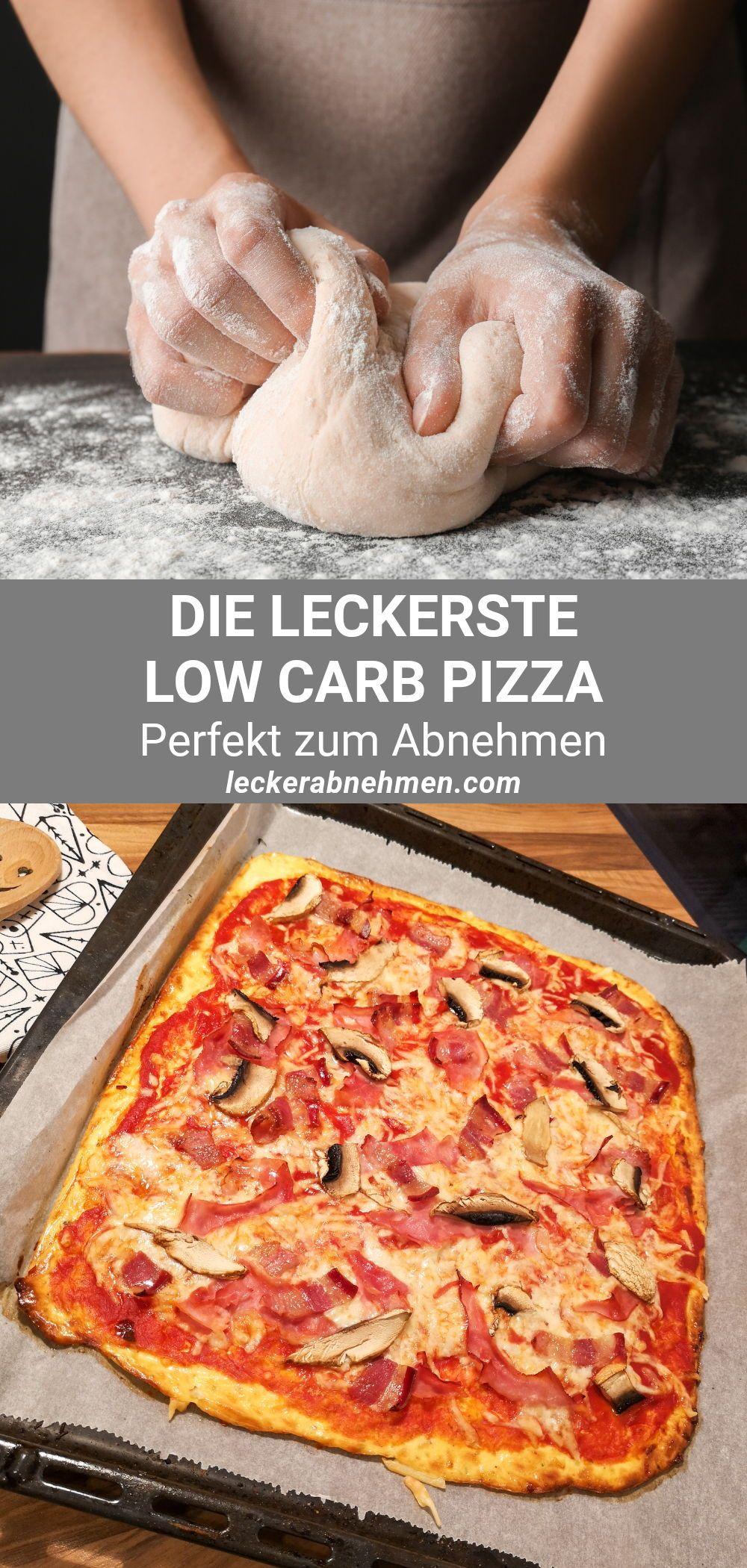 Low Carb Pizzateig ohne Hefe - Gesunde Pizza vom Blech