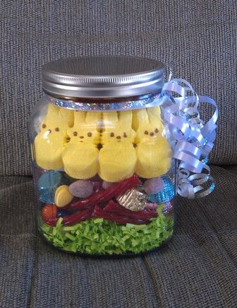 Easter basket in a jar i just made this to send to my college easter basket in a jar pinner said i just made this to send to my college son remember for college students photo inspiration only negle Gallery