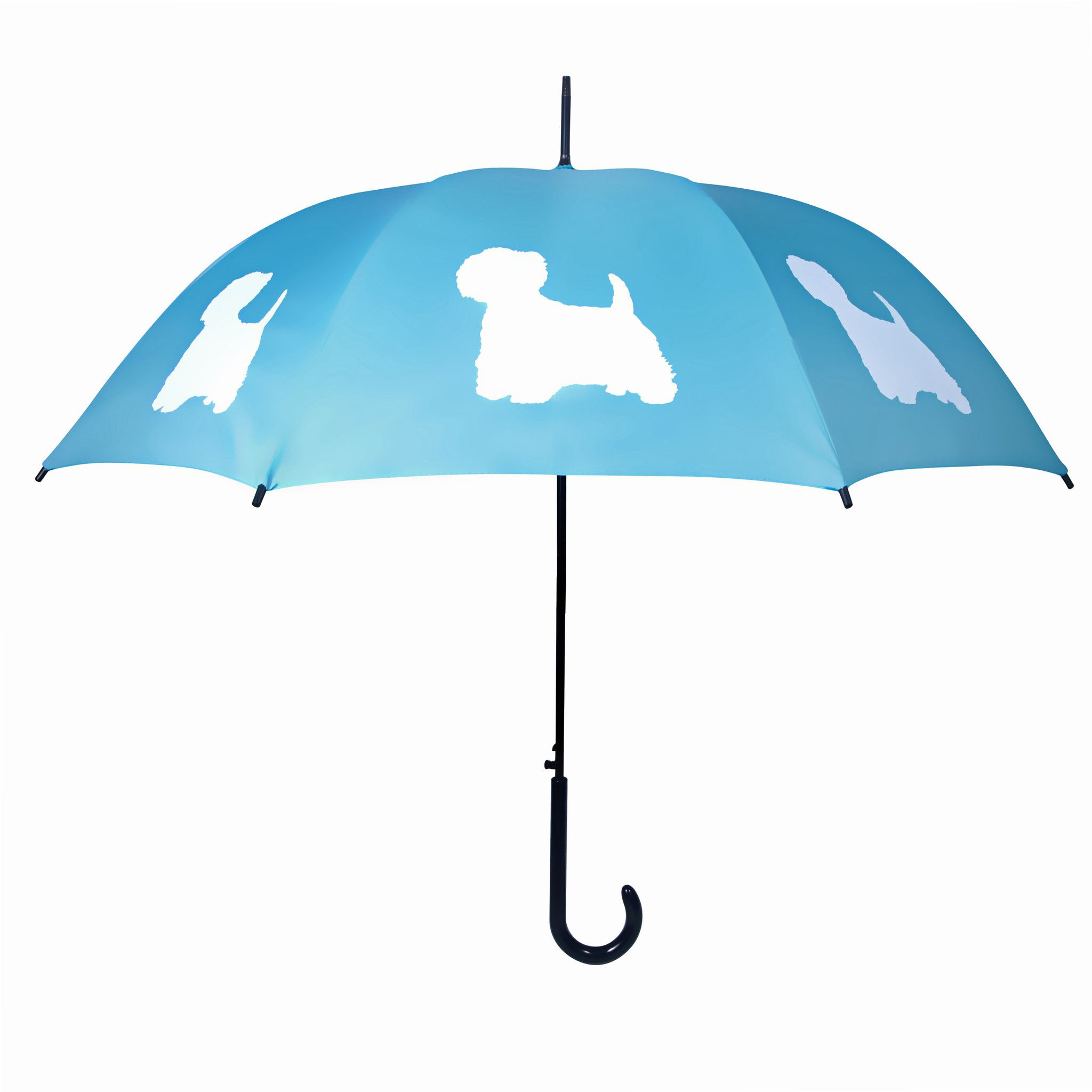 West Highland Terrier Umbrella (White on Powder Blue)