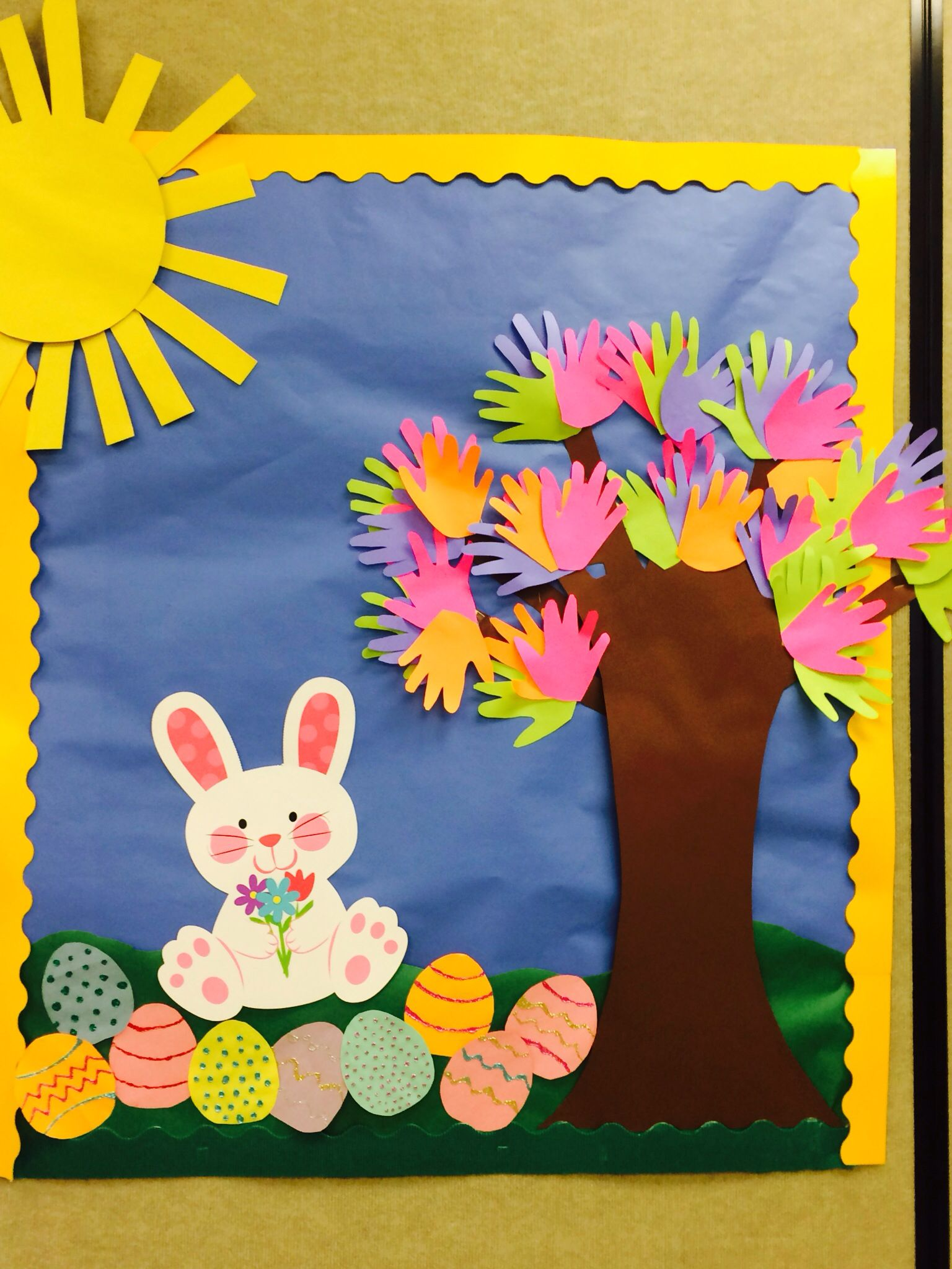 Spring Bulletin Board Easter Preschool Pinterest Bulletin