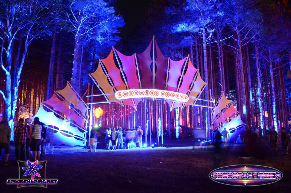 Electric forrest space shaping electronic music festival for Festival decoration ideas