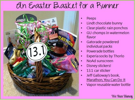 Easter basket ideas for a runner easter baskets pinterest easter basket ideas for a runner negle Choice Image