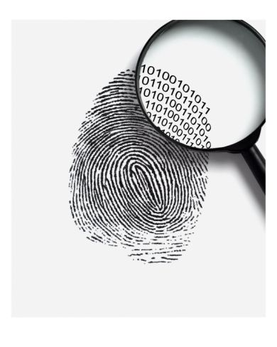 Fingerprint With A Magnifying GlassBy Simon Belcher ...