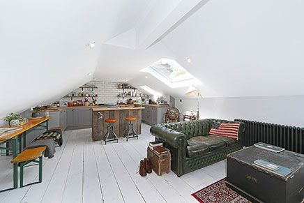 Stoere Inrichting Woonkamer : Stoere woonkamer inrichting op zolder home is where this is