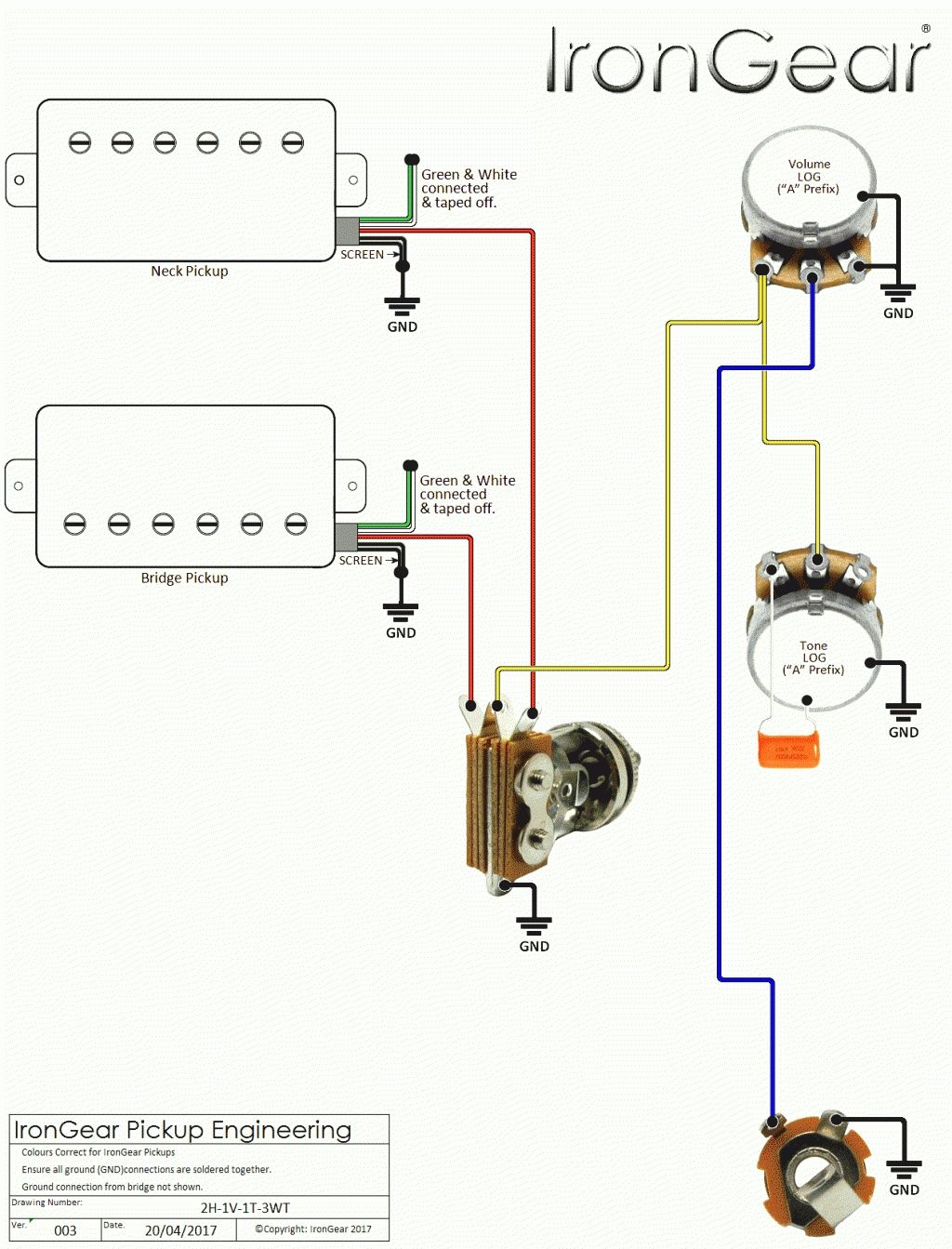 Wiring-Diagram-For-Electric-Bass-Guitar & P Bass Wiring Diagram
