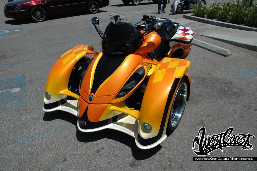 west coast customs style can am spyder nice good want 2 haves pinterest west coast customs. Black Bedroom Furniture Sets. Home Design Ideas