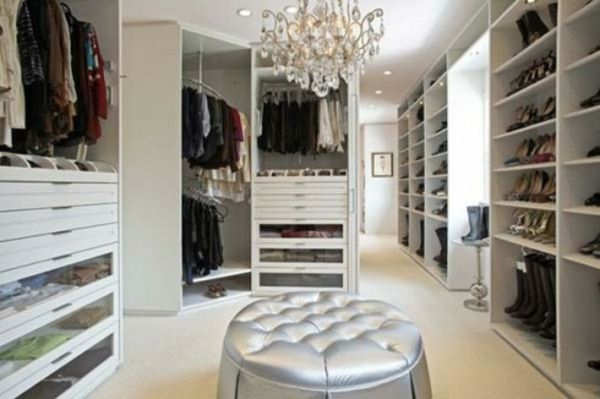 Luxus Kleiderschrank-begehbar Hocker | Walk In Closet | Begehbarer