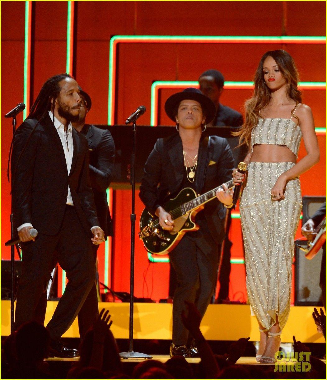 Bruno Mars Sting Grammys 2013 Performance Watch Now Bruno Mars Editorial Fashion Rihanna