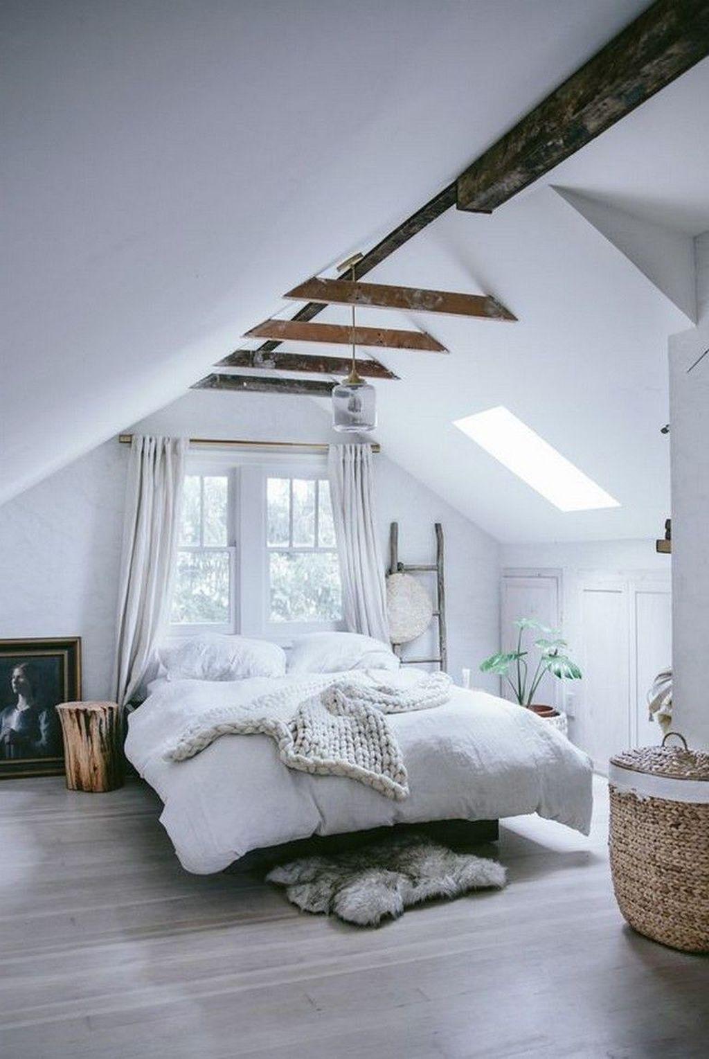 30 Stunning Small Attic Bedroom Design Ideas Small Loft Bedroom