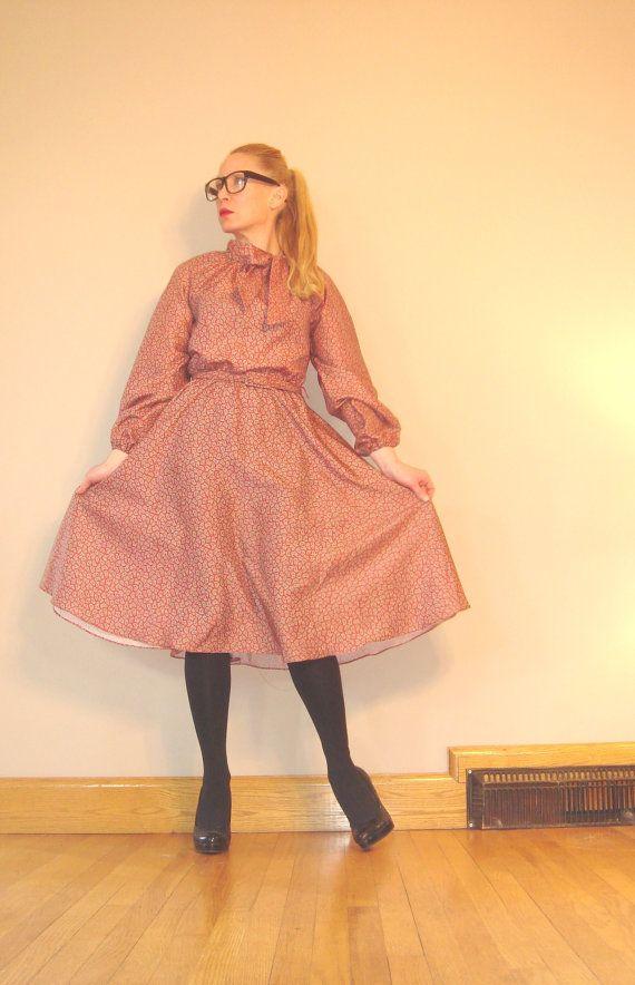 Vintage 1970s Paisley Cute Bowtie Dress on Etsy, $32.86