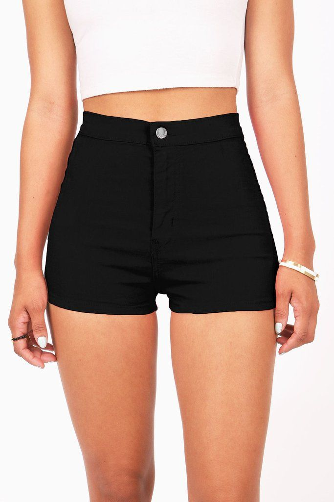 9dc39942db0fb2 Super high waist denim shorts with soft stretchy denim and smooth seamless  fit. Traditional zip