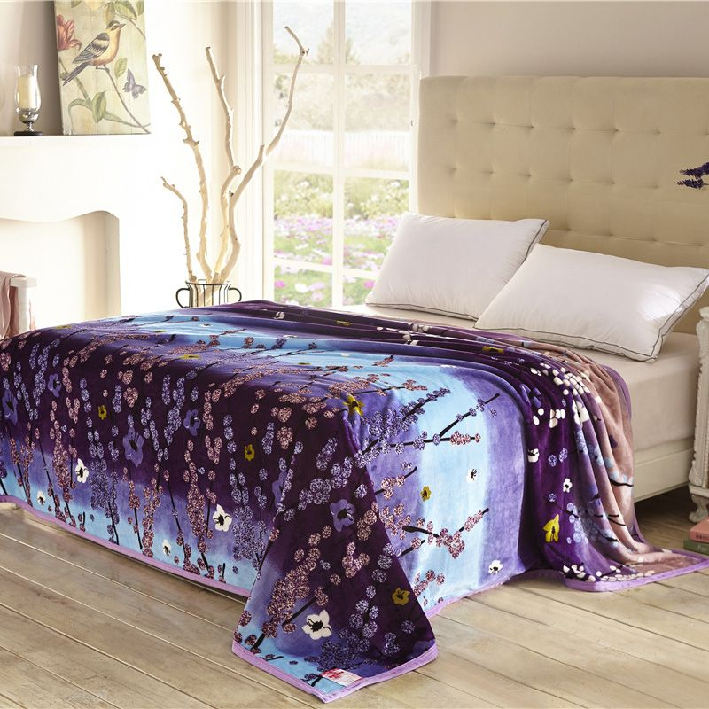 Lovely Home Textiles,cool Plum Pattern Blankets For Bed Throw Bedclothes Can Be As Bed  Sheet