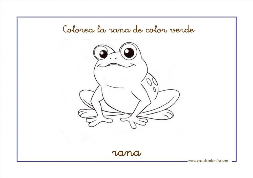 Dibujos para colorear de color verde | Clase | Pinterest