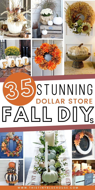 35 Stunning Dollar Store DIY Fall Decor Ideas