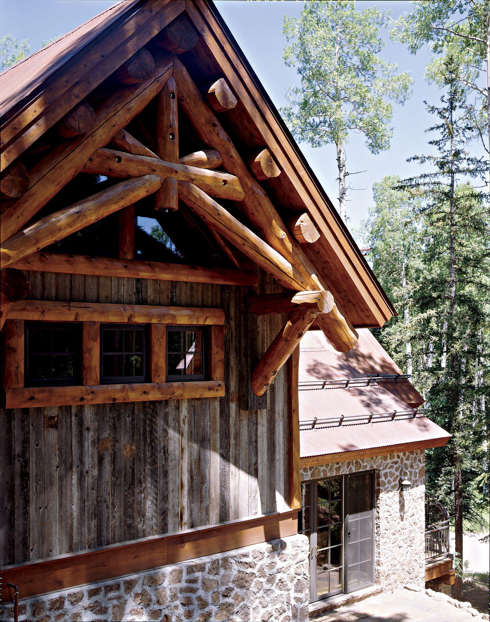 Log and reclaimed barn siding hybrid log homes 1 2 log for Log house siding options