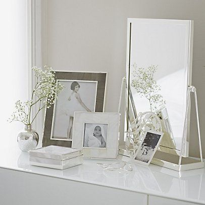 Mother of Pearl Charcoal Photo Frame 5x7\'\' from The White Company ...