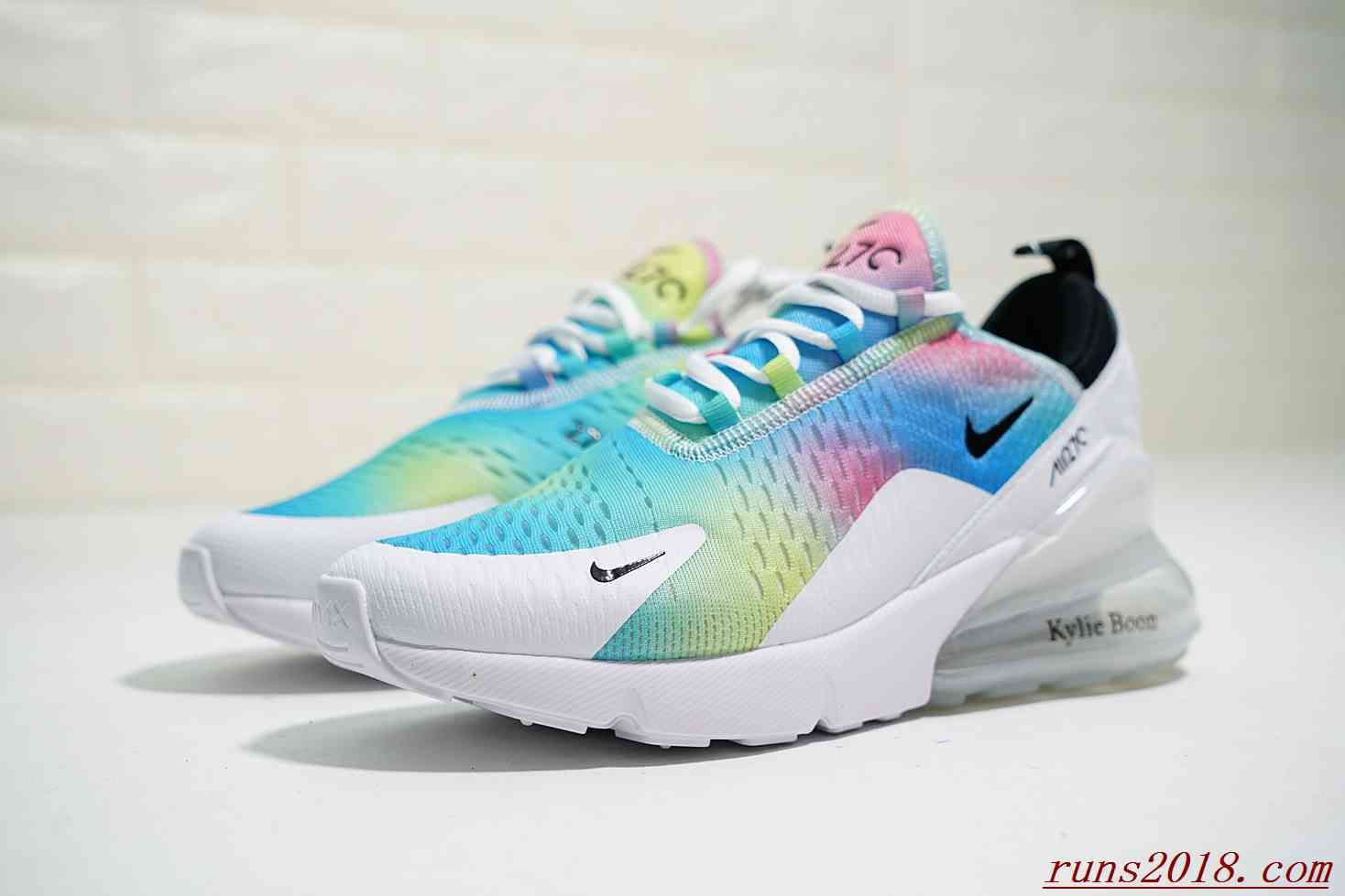 quality design 827c9 37a11 NIKE AIR MAX 270 WOMEN WHITE RAINBOW LASER