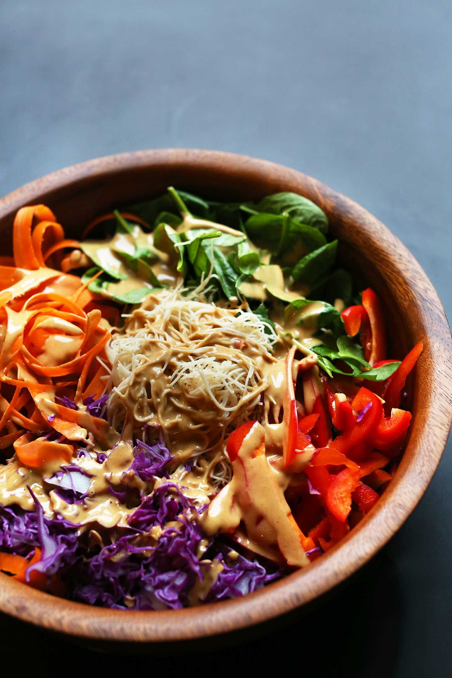 Blissed Out Thai Salad With Peanut Tempeh