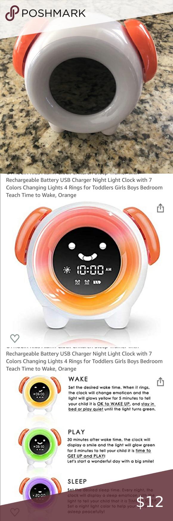 3 10 Oyrgcik Alarm Clock For Kids In 2020 Clock For Kids Kids Alarm Clock Color Changing Lights