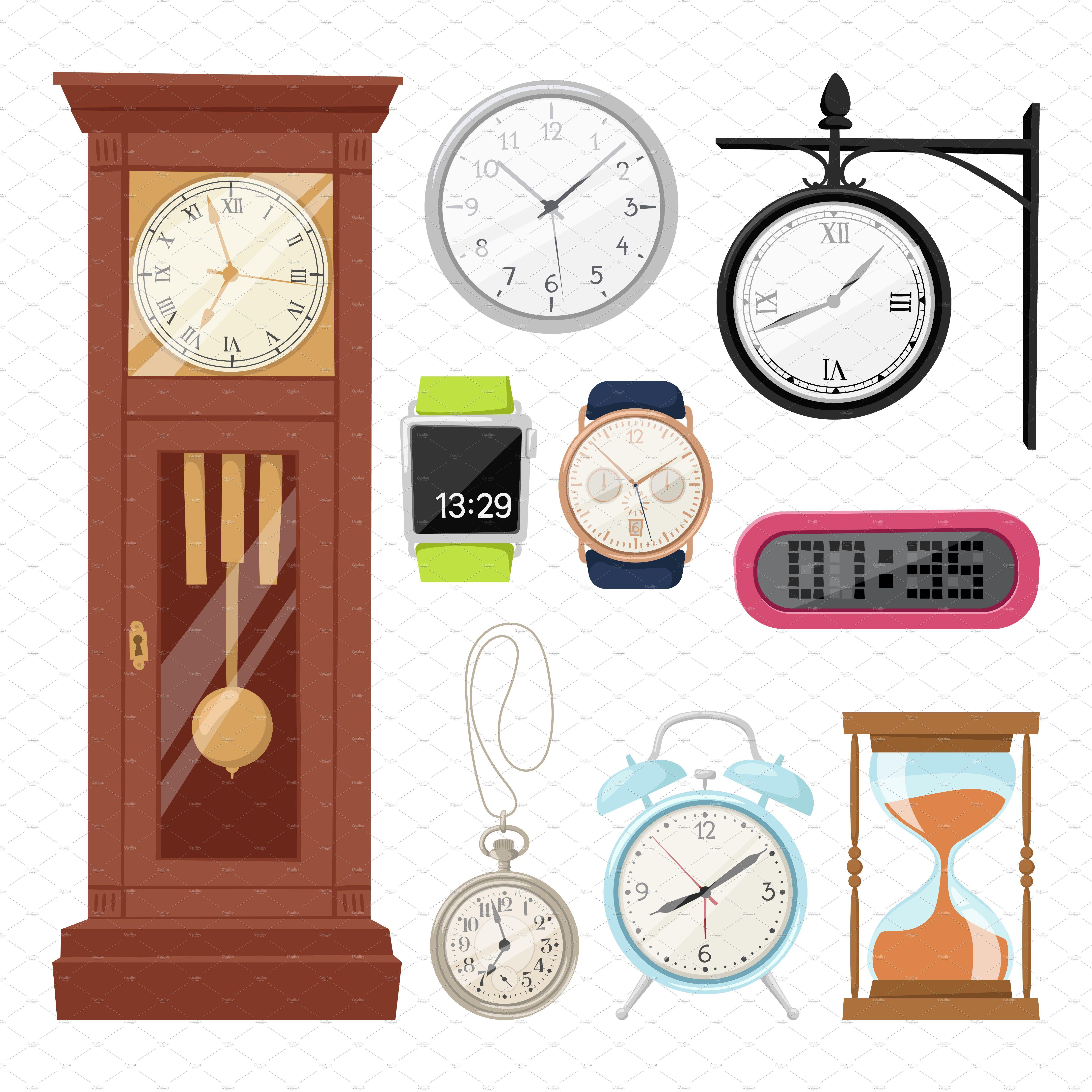 Clock watch alarms vector icons Clock, Clock icon