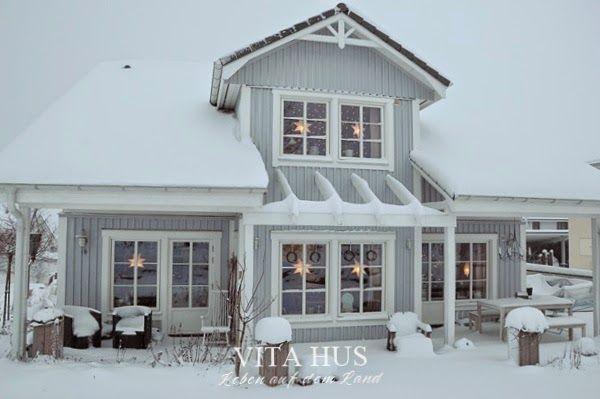 Schwedenhaus grau  Schwedenhaus im Winter, | Traumhäuser | Pinterest | Schwedenhaus ...