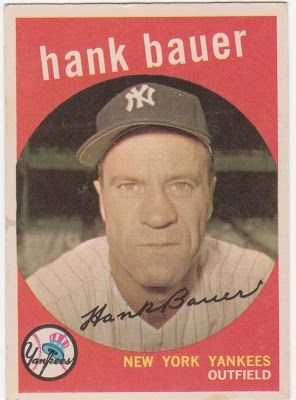 59 Topps One Fg Card At A Time 240 Hank Bauer My
