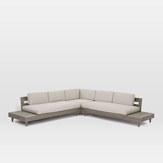 Portside Outdoor Low 3 Piece L Shaped Sectional Ashley Furniture Sale Pool Furniture Outdoor Furniture Sets