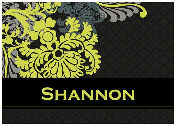 One of my favorite Vera patterns in personalized notecards: Baroque!!