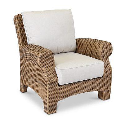 Sunset West Santa Cruz Lounge Chair With Cushions Fabric Canvas Flax Deep Seating Chair