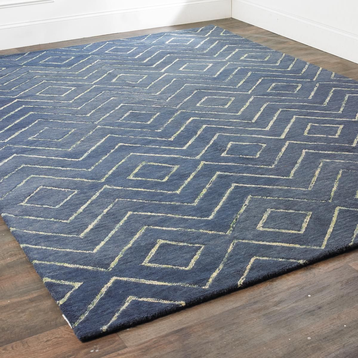 Concentric Zig Zag Wool Rug 369 00 5 X 8 Shades Of Light