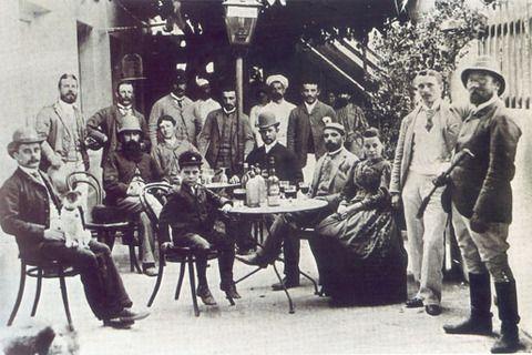 time-it-was: Tertulia de inmigrantes alemanes en el año 1870. Buenos Aires - Argentina German immigrants in the year 1870. Buenos Aires - Argentina