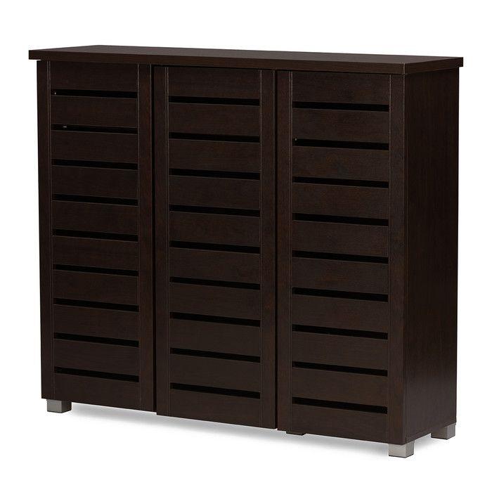 Kyle 3-Door Shoe Storage Cabinet & Reviews | Joss & Main