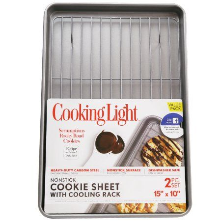 Pure Via Cooking Light 15 Inch Cookie Sheet With Rack Silver