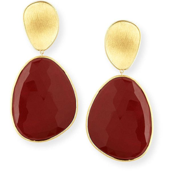 Marco Bicego Lunaria 18k Red Jasper Drop Earrings g8jkdg