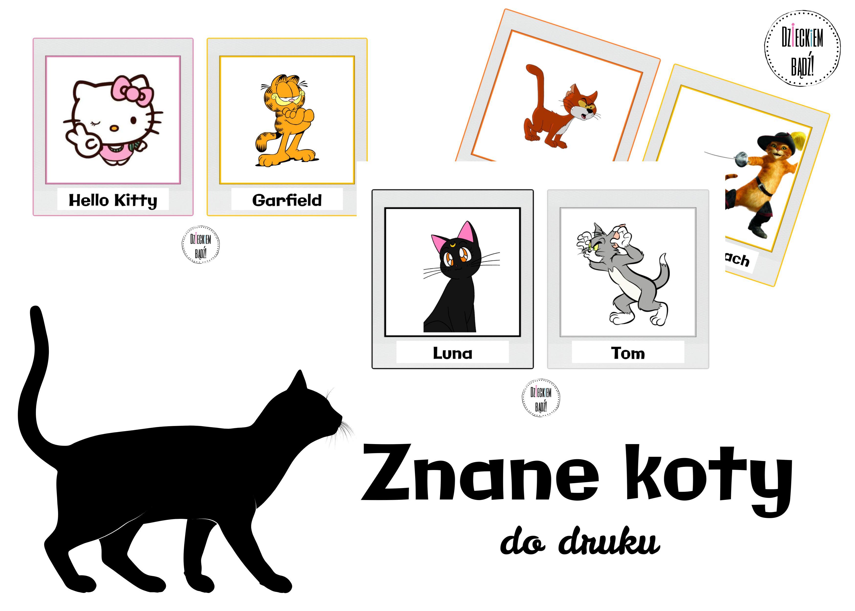 Znane Koty Slawne Koty In 2020 Kitty Gallery Wall Hello Kitty