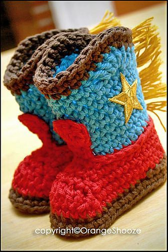 Free Cowboy Boots crochet pattern, omgsh I wish ibcould remember how ...