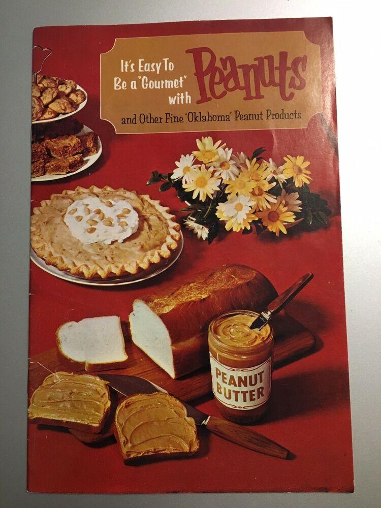 1960 oklahoma peanut commission recipe cookbook sponsored